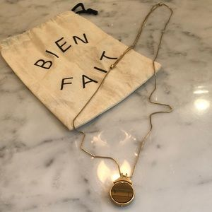 Madewell Tigre's eye pendant necklace